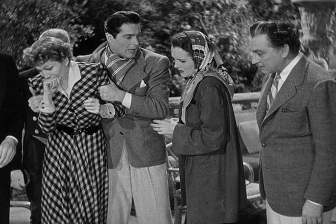 Claudette Colbert, Francis Lederer, Mary Astor, John Barrymore in Midnight