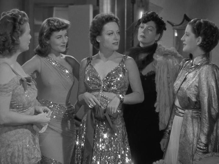 Paulette Goddard Joan Crawford Rosalind Russell Norma Shearer in The Women