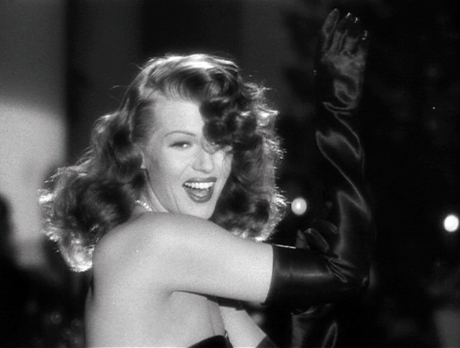 "Rita Hayworth as Gilda singing ""Put the Blame on Mame"""