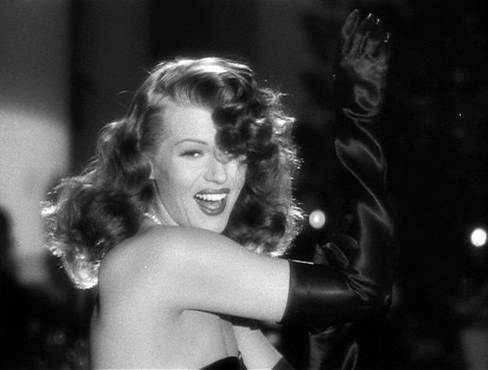 "Rita Hayworth as Gilda singing ""Put the Blame on Mame"""