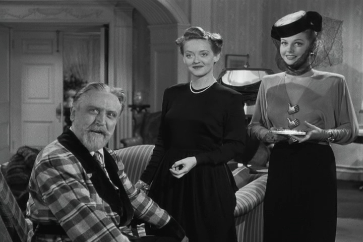 Monty Woolley, Bette Davis, Ann Sheridan in The Man Who Came to Dinner