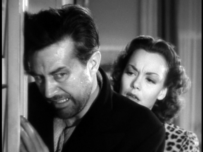 Ray Milland, Jane Wyman in The Lost Weekend