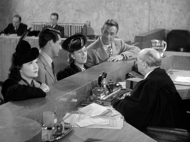 Gail Patrick, Cary Grant, Irene Dunne, Randolph Scott in My Favorite Wife