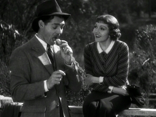 Clark Gable, Claudette Colbert in It Happened One Night