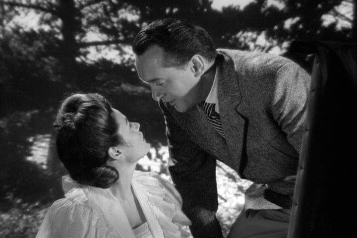 Gene Tierney, George Sanders in The Ghost and Mrs. Muir