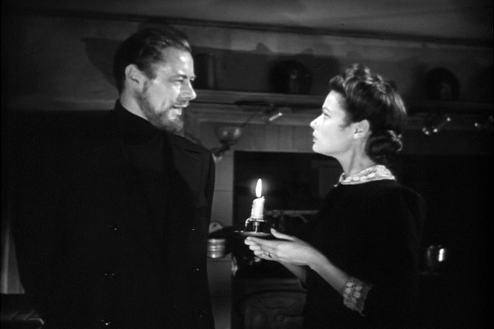 Rex Harrison, Gene Tierney in The Ghost and Mrs. Muir