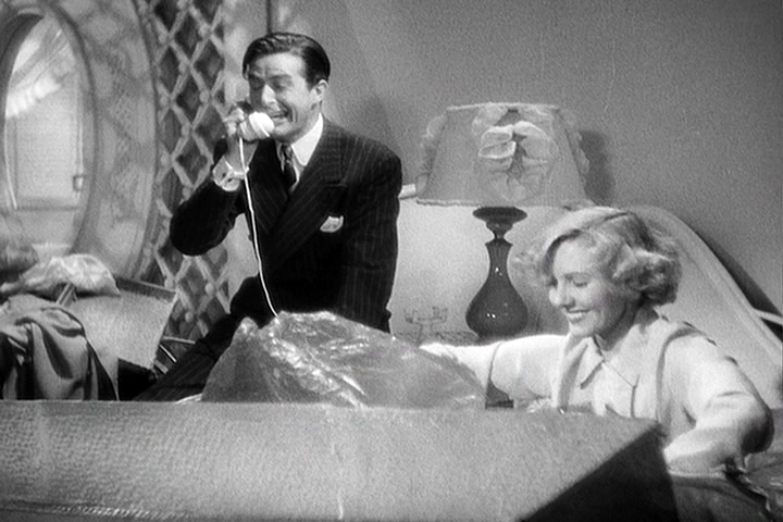 Ray Milland, Jean Arthur in Easy Living