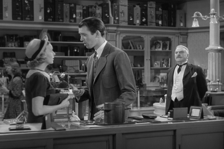 margaret-sullavan-james-stewart-frank-morgan in The Shop Around the Corner
