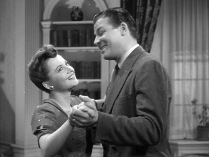 Jack Carson, Olivia de Havilland in The Male Animal