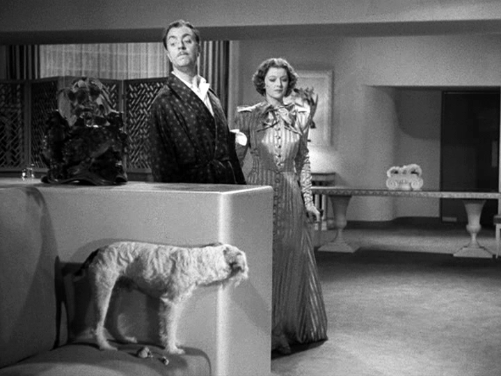 Skippy as Asta, William Powell and Myrna Loy in After the Thin Man