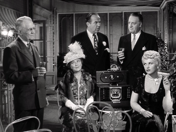 Larry Oliver, Barbara Brown, Broderick Crawford, Jim Devery, Judy Holliday in Born Yesterday