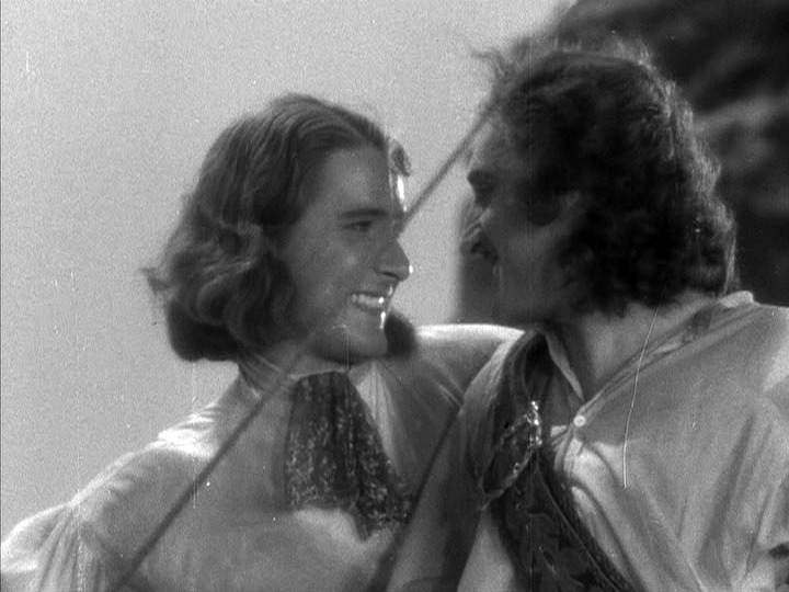 Errol Flynn, Basil Rathbone Captain Blood