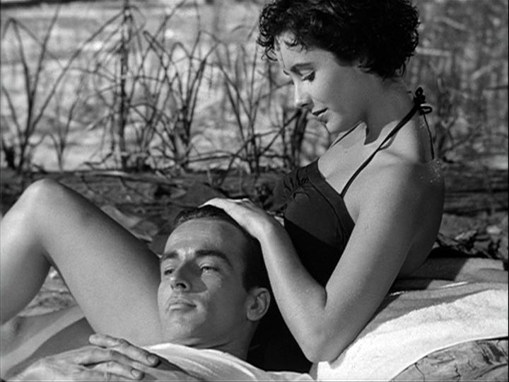 Montgomery Clift, Elizabeth Taylor in A Place in the Sun.png