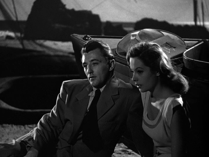 Robert Mitchum and Jane Greer in Out of the Past