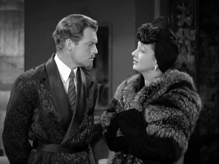 Van Heflin, Kay Francis in The Feminine Touch