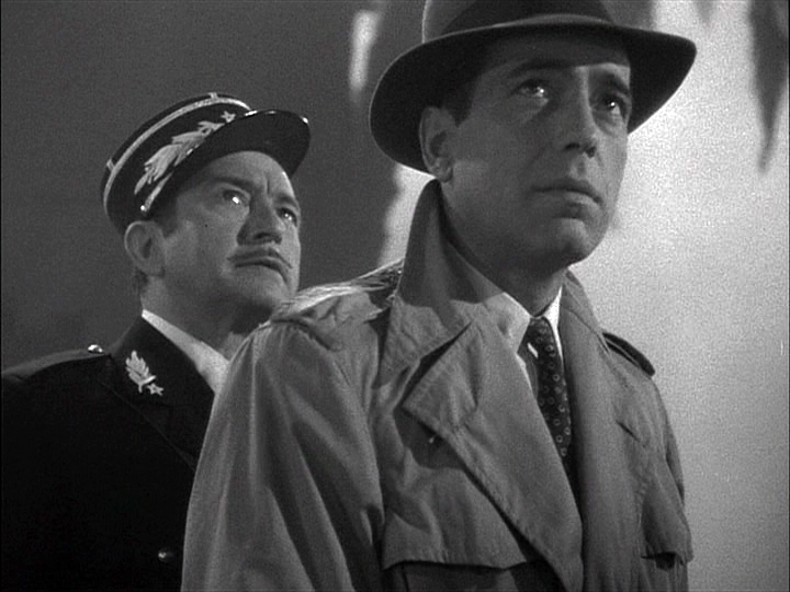 Claude Rains, Humphrey Bogart in Casablanca