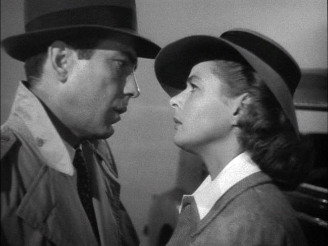 Humphrey Bogart, Ingrid Bergman in Casablanca