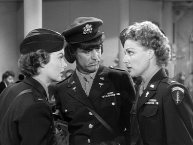 Marian Marshall, Cary Grant, Ann Sherida in I Was a Male War Bride