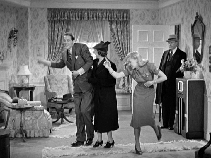 James Ellison, Beulah Bondi, and Ginger Rogers in Vivacious Lady