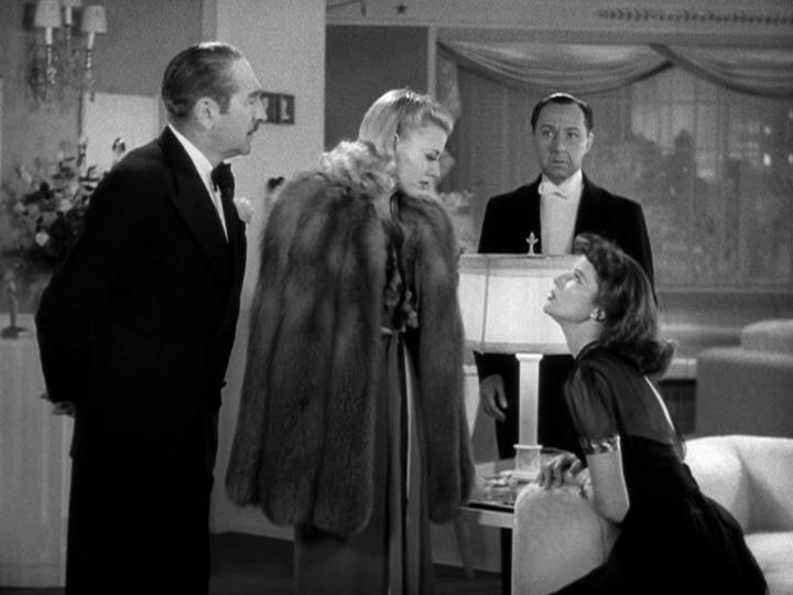 Adolphe Menjou, Ginger Rogers, Katharine Hepburn in Stage Door