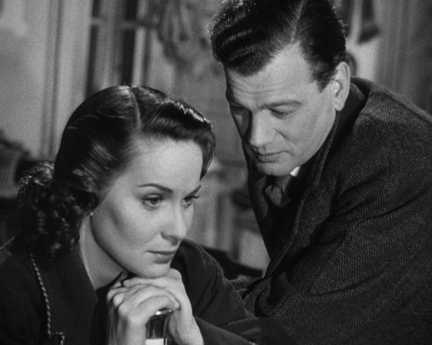 Alida Valli, Joseph Cotten in The Third Man