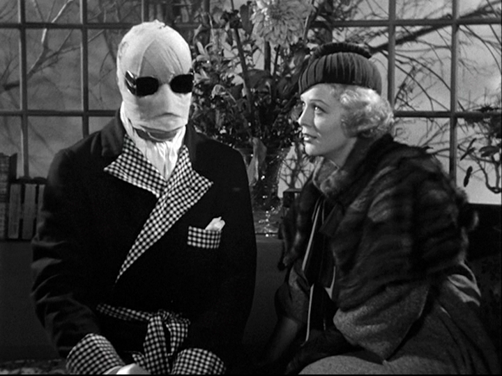 Claude Rains, Gloria Stuart in The Invisible Man