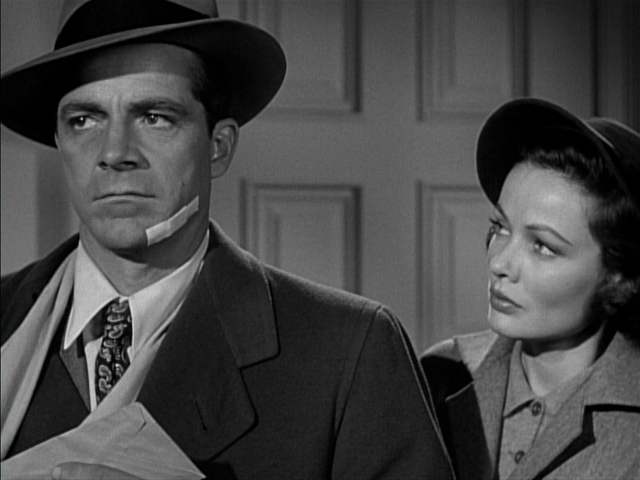 Dana Andrews, Gene Tierney in Where the Sidewalk Ends