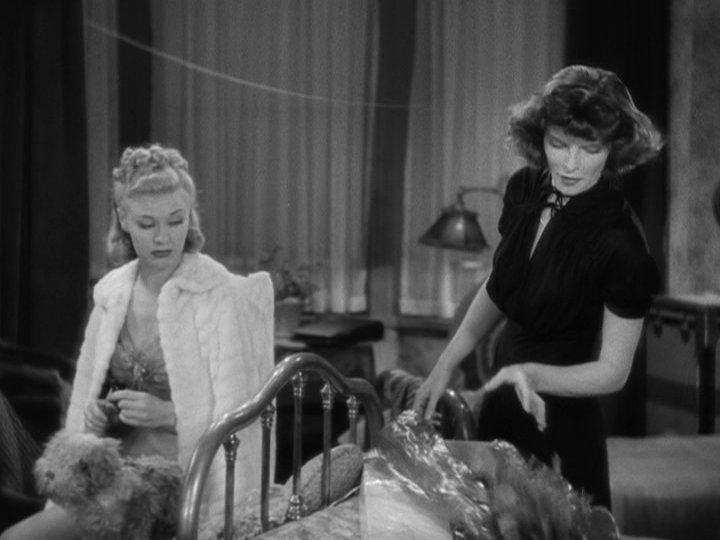 Ginger Rogers, Katharine Hepburn in Stage Door