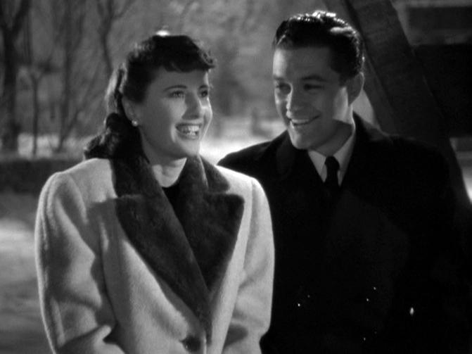 Barbara Stanwyck, Dennis Morgan in Christmas in Connecticut