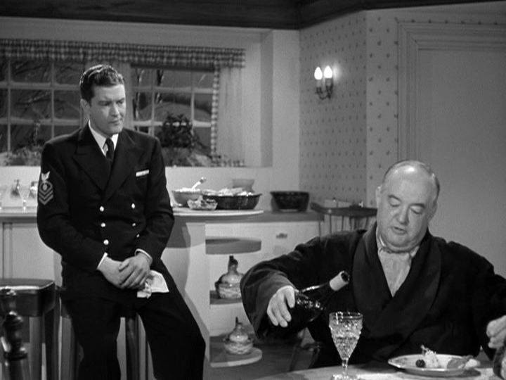 Dennis Morgan, Sydney Greenstreet in Christmas in Connecticut