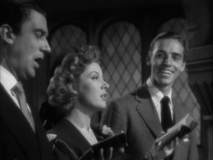 Walter Pidgeon, Greer Garson, Richard Ney in Mrs. Miniver