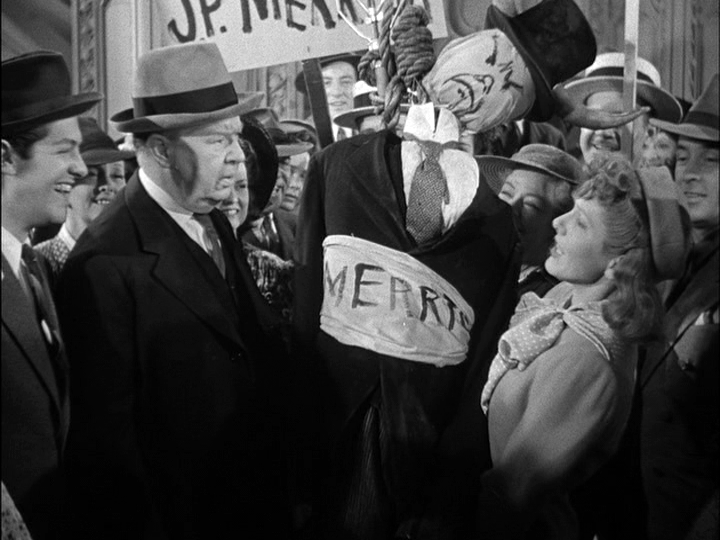 Robert Cummings, Charles Coburn, Jean Arthur in The Devil and Miss Jones