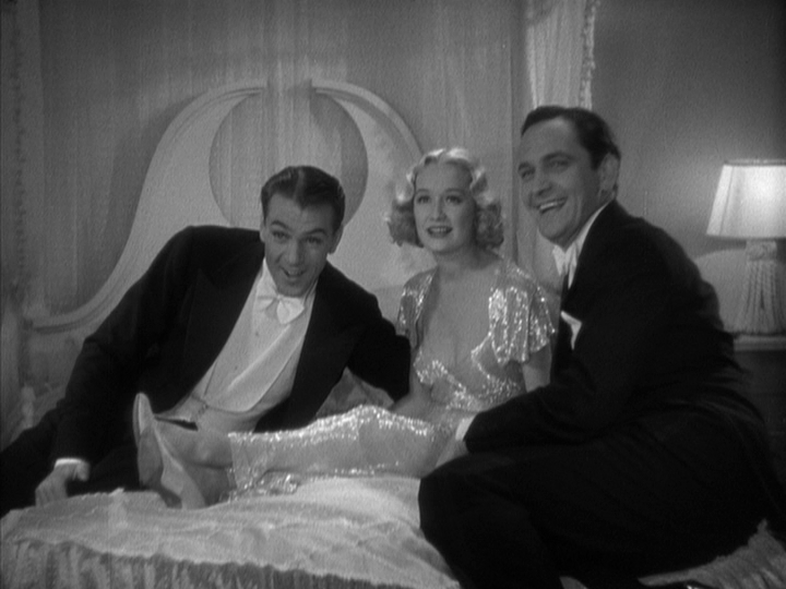 Gary Cooper, Miriam Hopkins, Fredric March in Design for Living