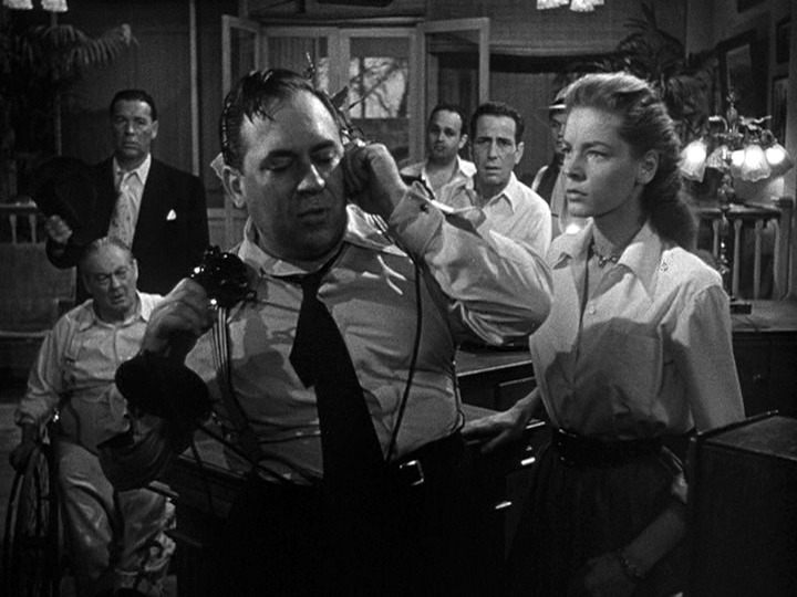 Lionel Barrymore, Lauren Bacall, Humphrey Bogart in Key Largo