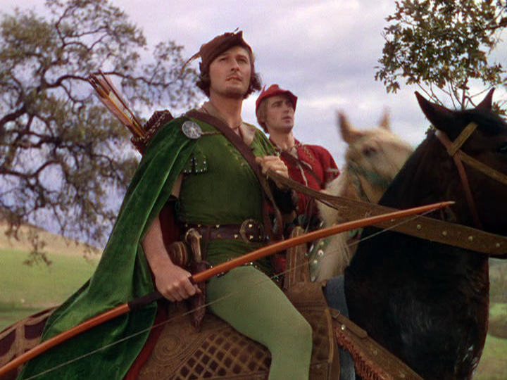 rrol Flynn, Patric Knowles in The Adventures of Robin Hood