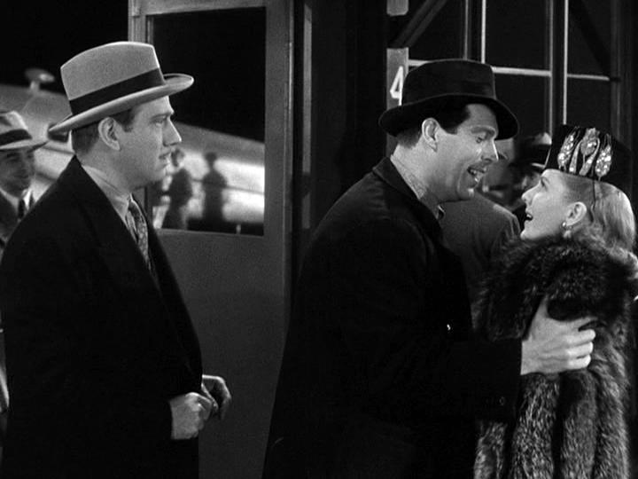 Melvyn Douglas, Fred MacMurray, Jean Arthur in Too Many Husbands