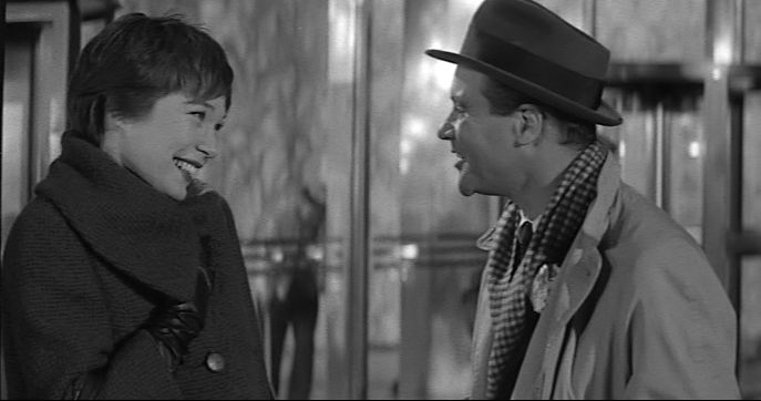 """Shirley MacLaine, Jack Lemmon in """"The Apartment"""""""