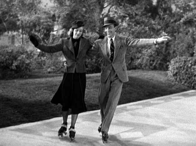 Ginger Rogers Fred Astaire roller skate and dance in Shall We Dance