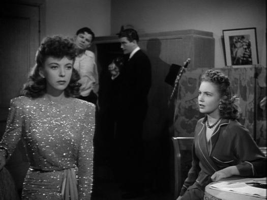 Ida Lupino, Jack Carson, Dennis Morgan, Joan Leslie in The Hard Way