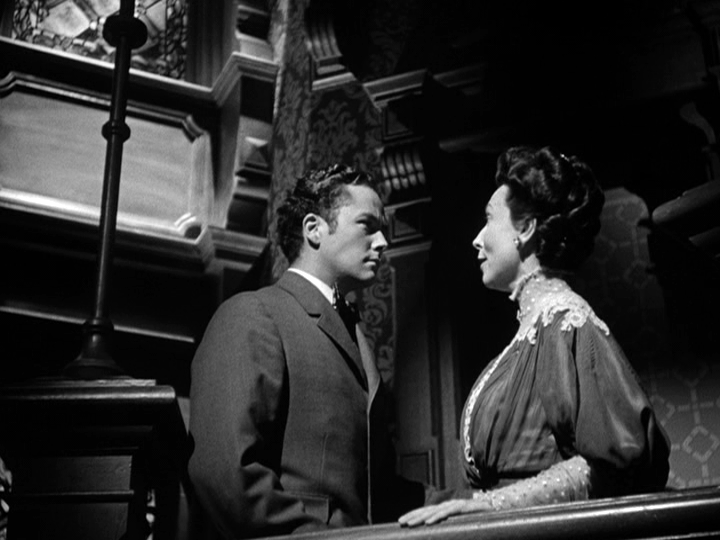 Tim Holt, Agnes Moorhead in The Magnficent Ambersons