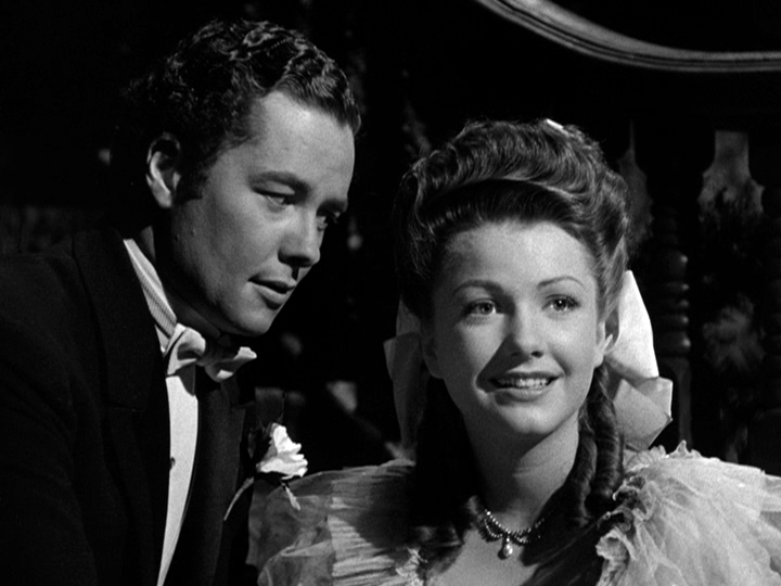 Tim Holt, Anne Baxter in The Magnficent Ambersons