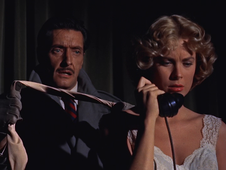 Grace Kelly is in imminent danger from would-be killer Anthony Dawson
