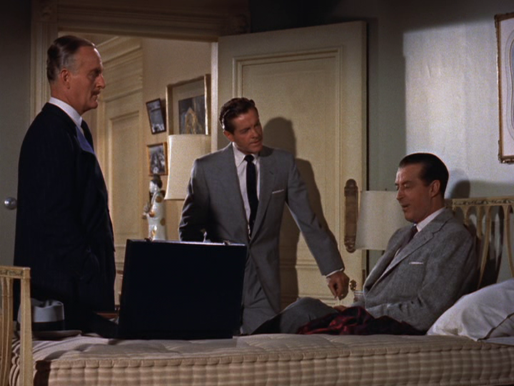 Ray Milland recounts a theory of murder from Robert Cummings to John Williams.