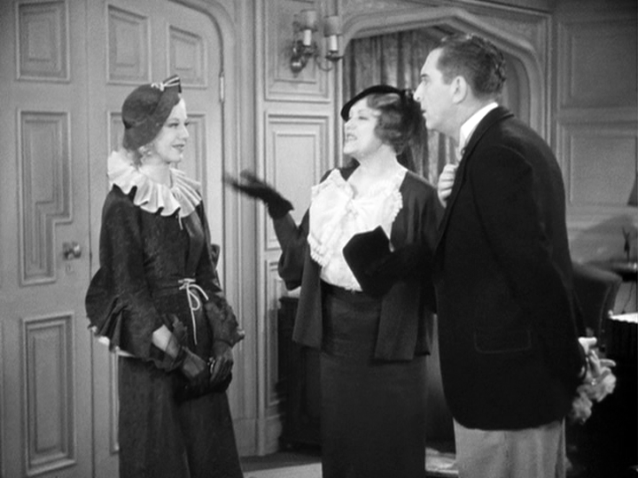 Alice Brady introduces her niece, Ginger Rogers, to her attorney, Edward Everett Horton