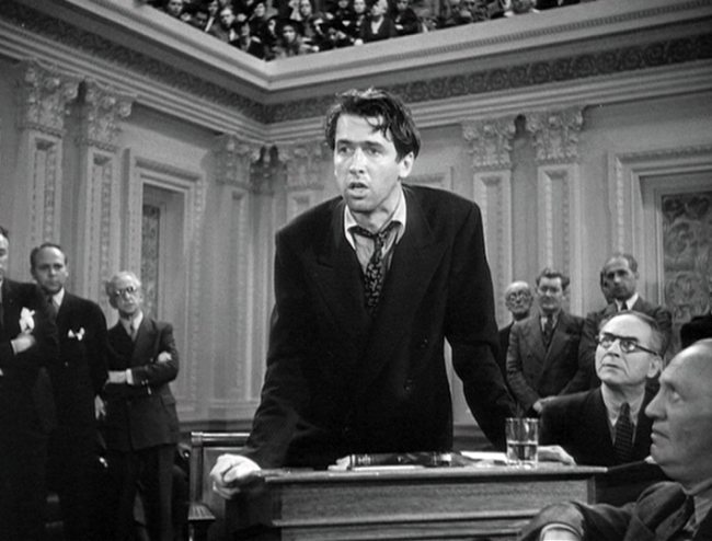 James Stewart makes an impassioned plea before Congress.