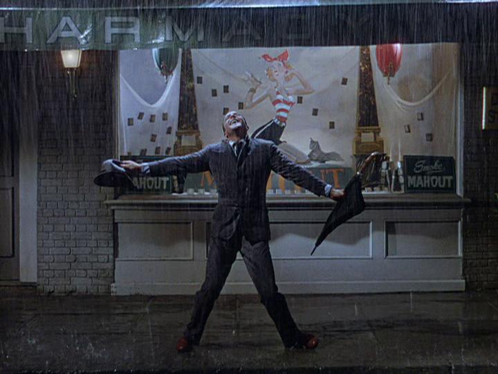 Gene Kelly is Singin' in the Rain.