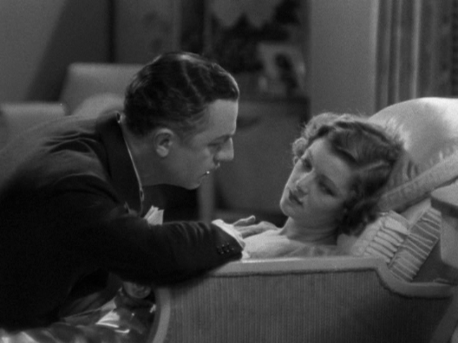 John and Evelyn Prentice (William Powell, Myrna Loy) share an intimate moment.