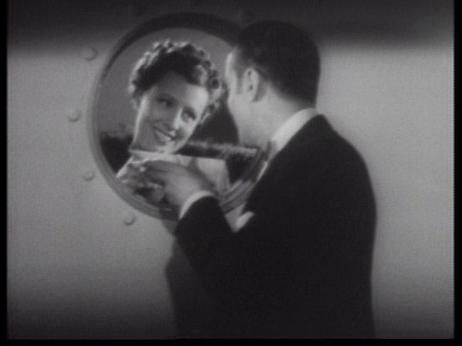 Irene Dunne flirts with Charles Boyer in Love Affair.