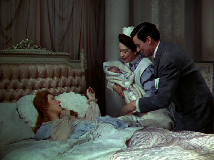 Greer Garson and Walter Pidgeon welcome their first child in Blossoms in the Dust.