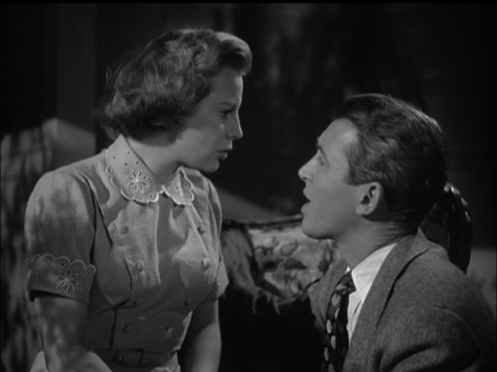 James Stewart proposes to June Allyson in The Stratton Story.